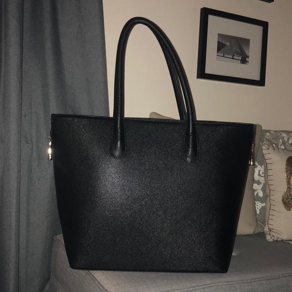 H M Bags   Hm Faux Leather Handbag Black   Poshmark bf48b4aa44